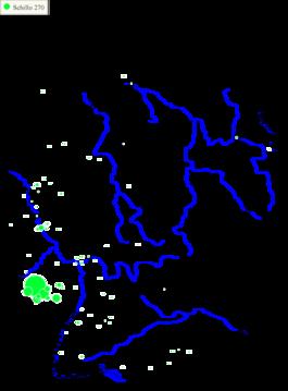 Karte 2: Verbreitung des Familiennamens Schillo (Quelle: Digitales Familiennamenwörterbuch Deutschlands)